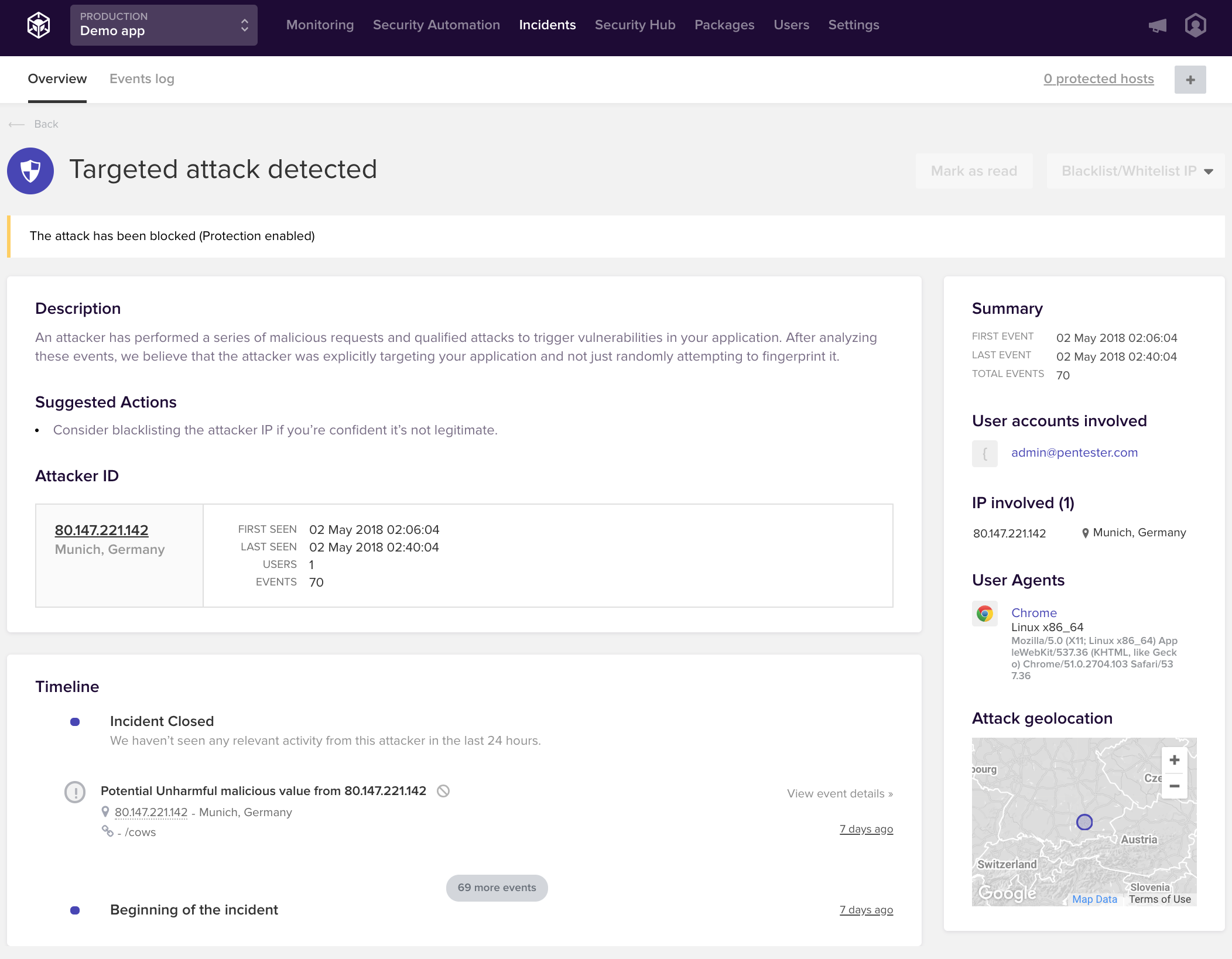 Targeted Attack Incident