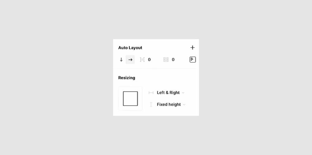 A screenshot of the new Auto Layout UI in the sidebar.