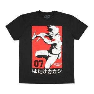 Naruto - Kakashi Hatake Team 07 Black T-Shirt
