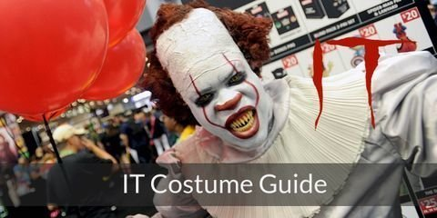 Dress like characters from IT & scare others this halloween