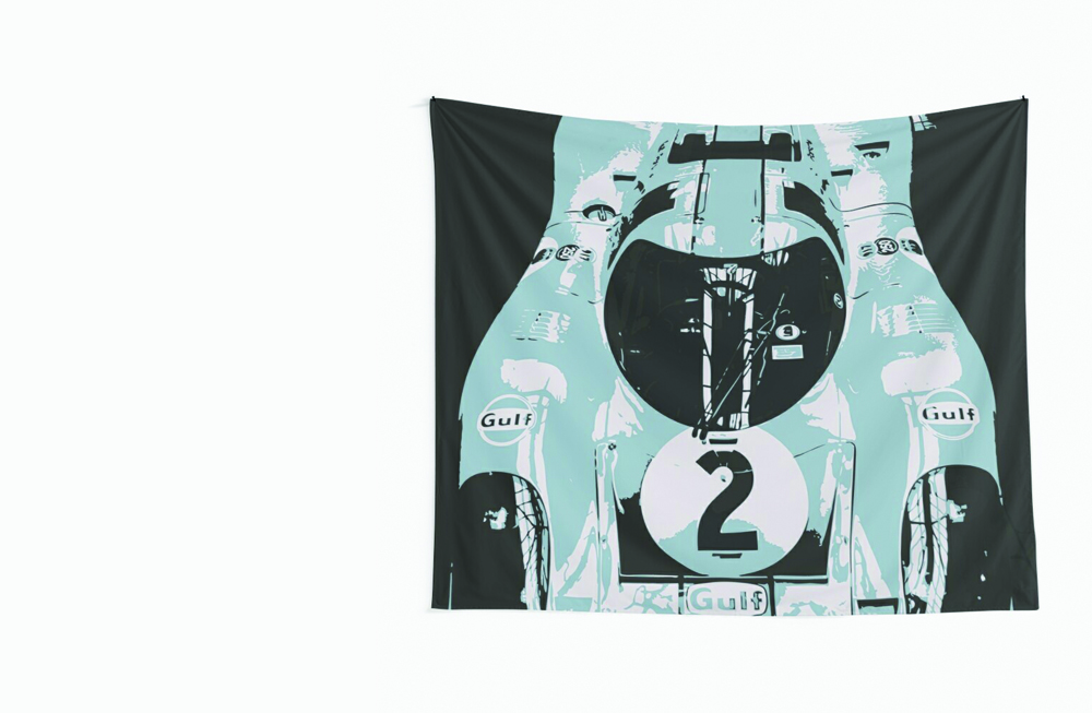 Porsche 917K Wall Tapestry by thespeedart