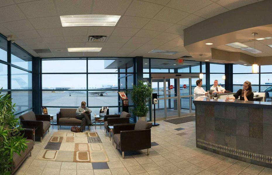 Private airport terminal