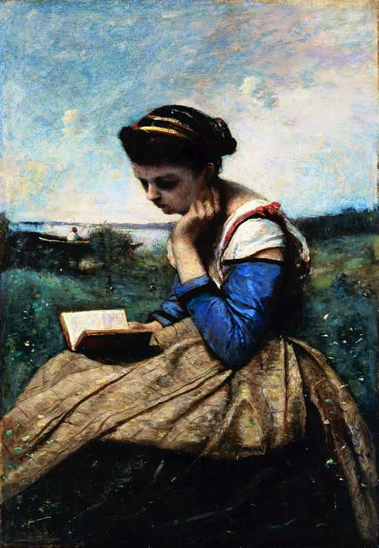 A Woman Reading, by Camille Corot in 1869/1870, Metropolitan Museum of Art