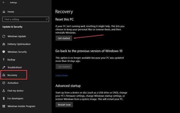 reset pc windows kernel security check after installing windows