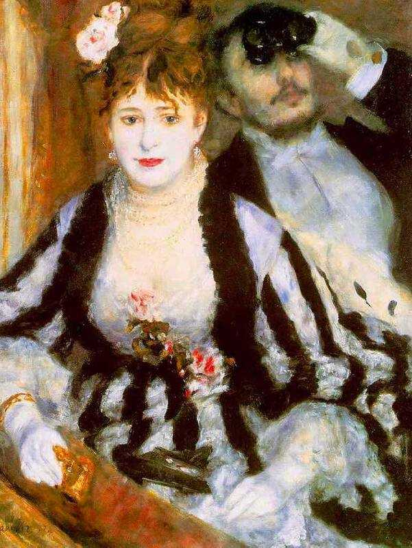 Renoir's La Loge (The Theatre Box) is another painting of joy
