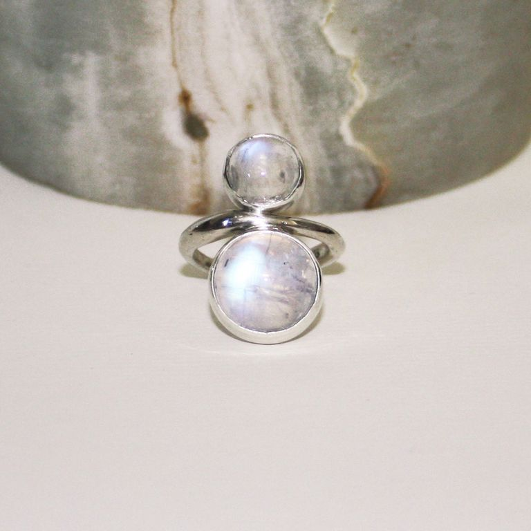 Mirror moon ring
