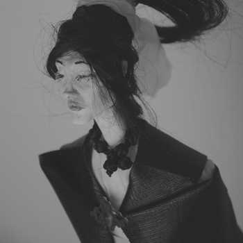 beautiful woman in poncho ballerina high arches feet shibari dark art mode post apocallyptic fashion