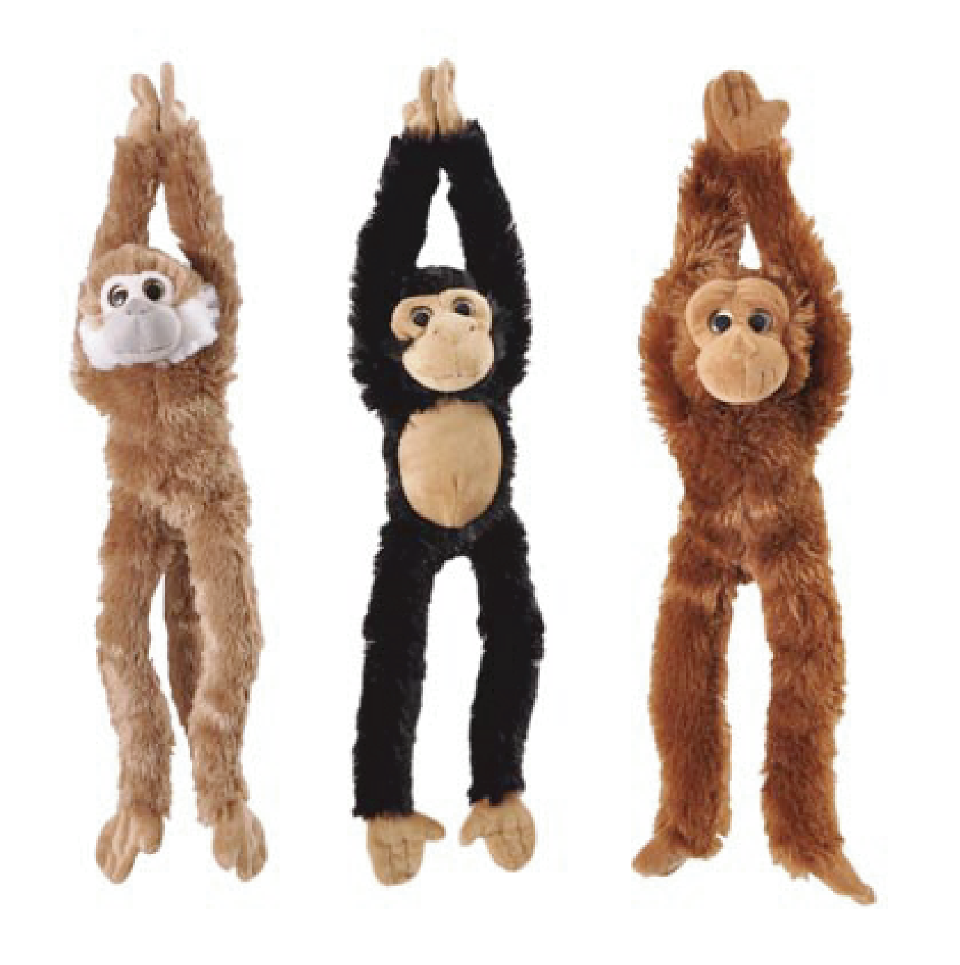 "The Petting Zoo: 20"" Hanging Monkey Natural Assortment & Sound Chip"