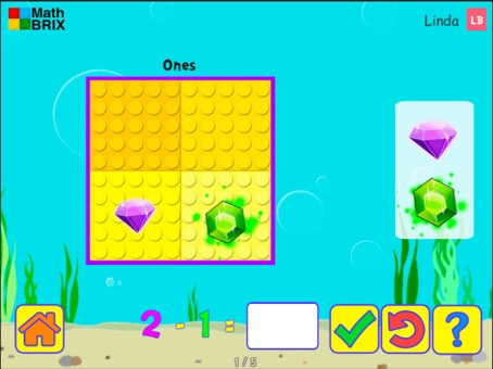 Minicomputer: Subtraction within 10 (splitting) Math Game