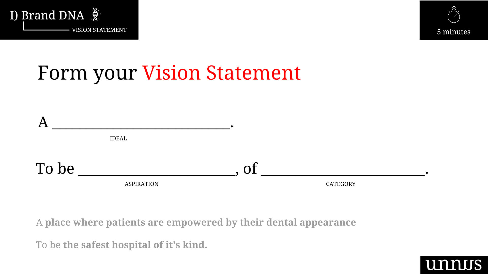 Healthcare vision statement example
