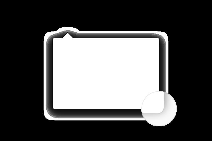 Doorhanger round corner radius on macOS