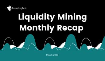 Liquidity mining first month recap