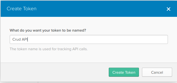 API Token Creation Screenshot