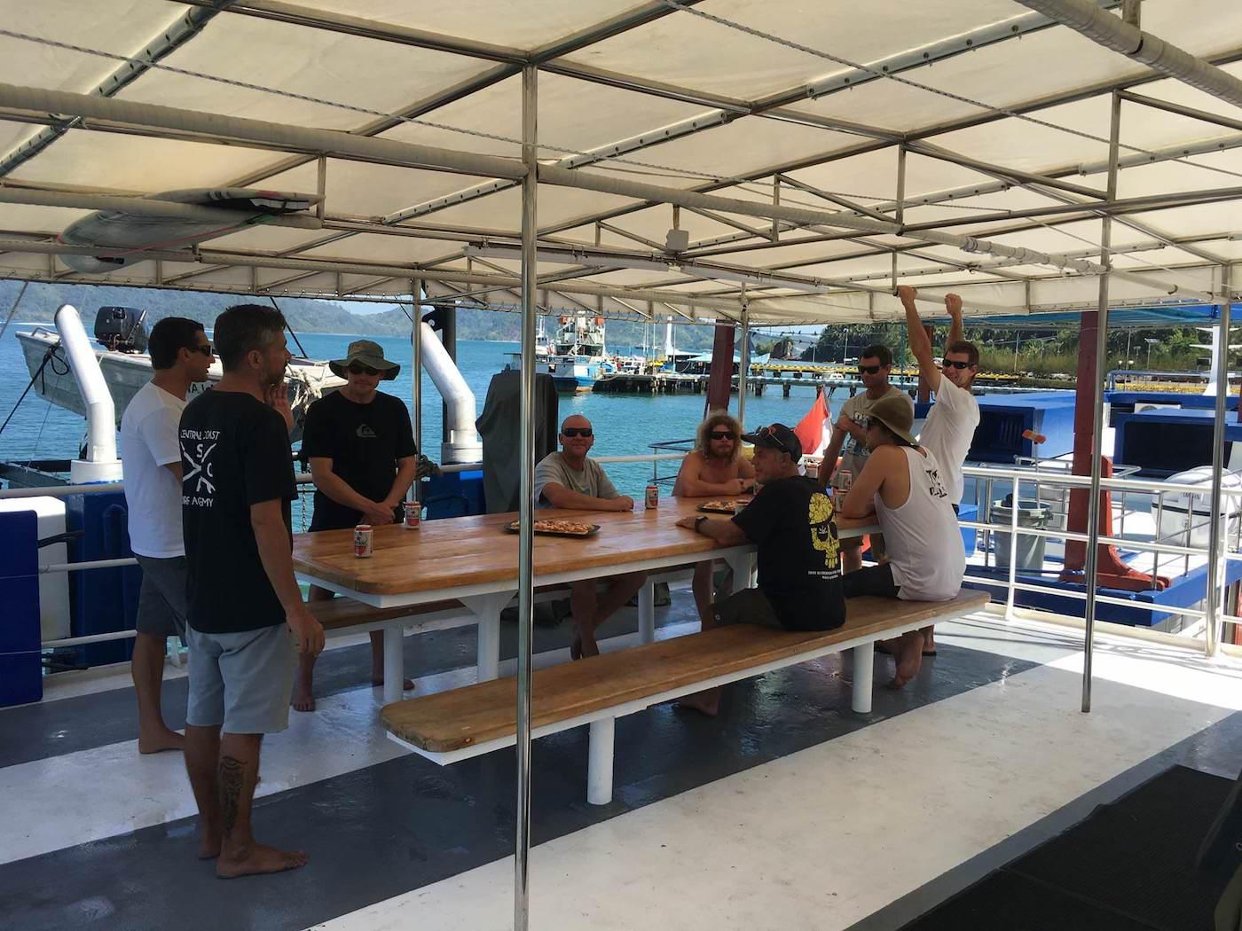 Santana Laut Surf Charter Boat Mentawai Telos Banyak deck