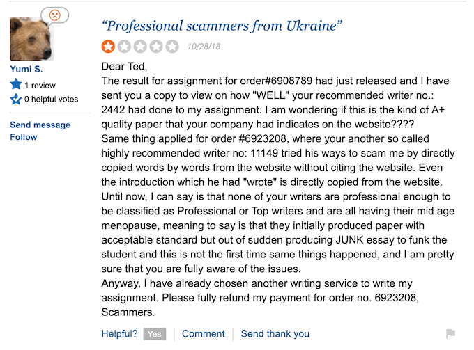 ninjaessays.com - professional scammers from Ukraine