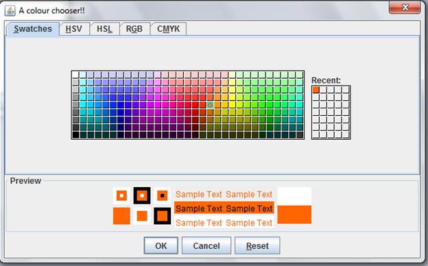 A colour chooser