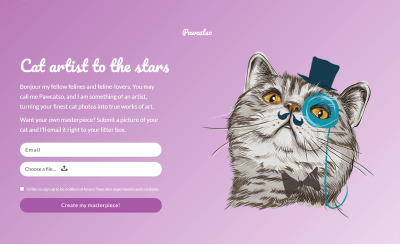 Screenshot of Pawcatso project