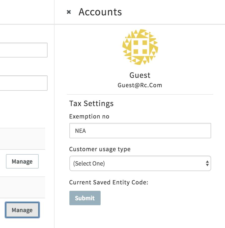 avalara-tax-exempt-settings