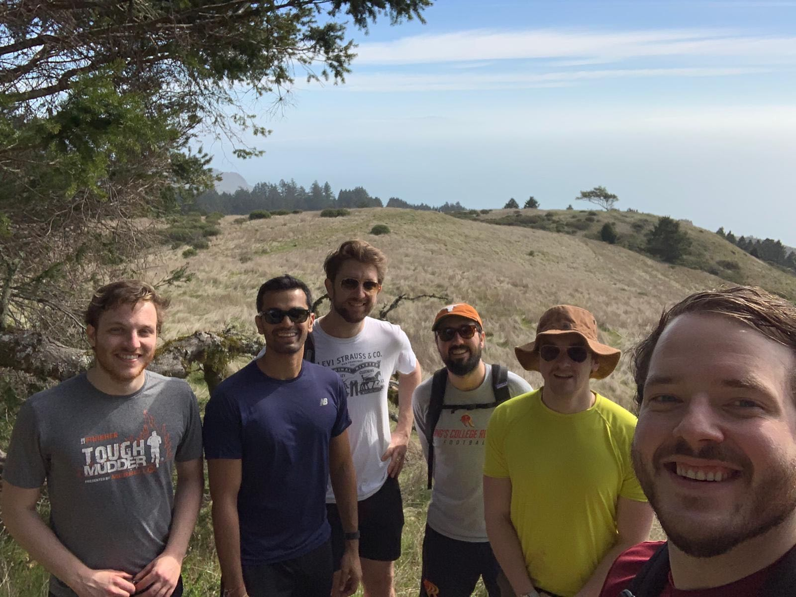 Hiking at Stinson Beach with friends