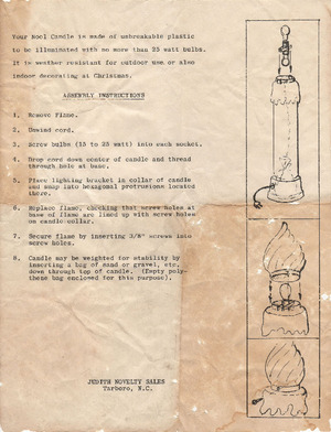 Empire Noel Candle #1365 Instruction Manual preview