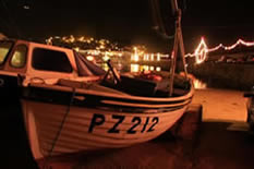 mousehole harbour at night