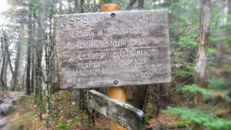 No mention of the AT on trail marker