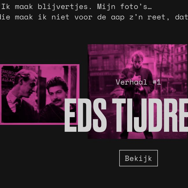 Ed van der Elsken: the man in photos