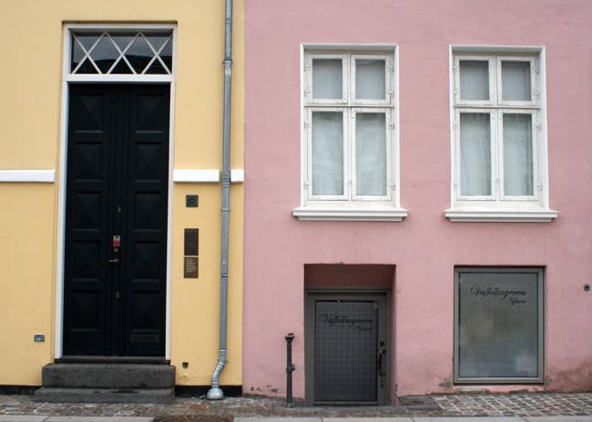 pastel buildings in Copenhagen