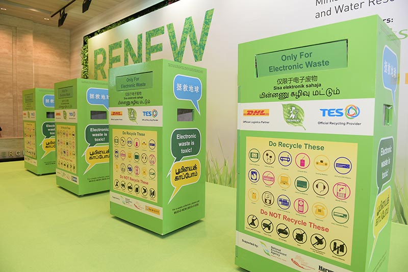 RENEW e-waste collection bins