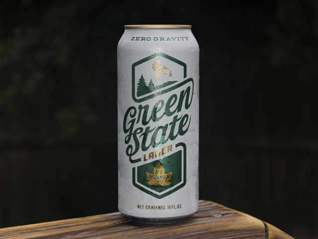 Green State Lager, a pilsner brewed by Zero Gravity Brewing