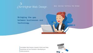 Desktop screenshot of AimHigher Web Design