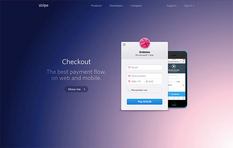 Stripe Design - Marketing Website Web Design Evaluation