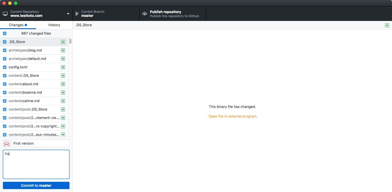 Github Commit Hugo Repository