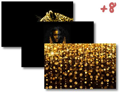Black and Gold theme pack