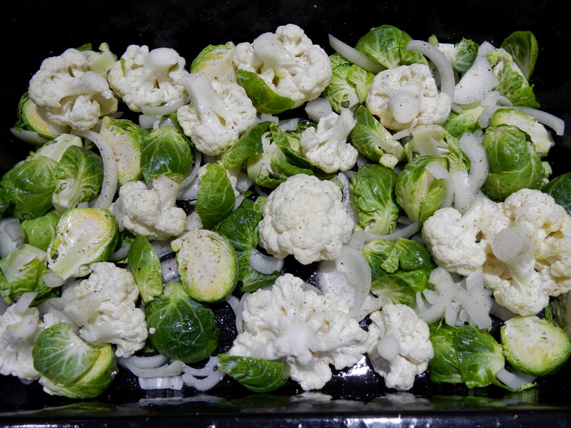 Brussel Sprouts In Pan