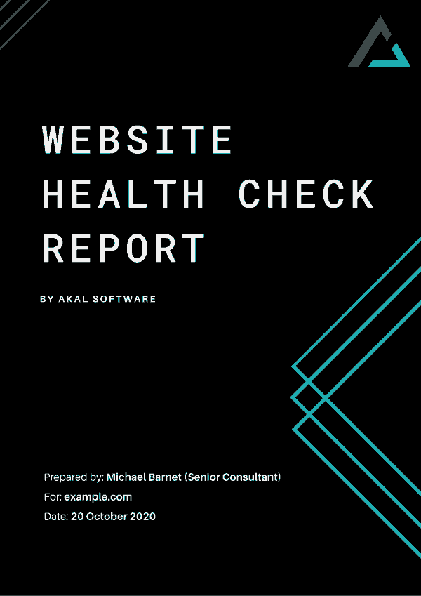 Website Health Check Report by Akal Software
