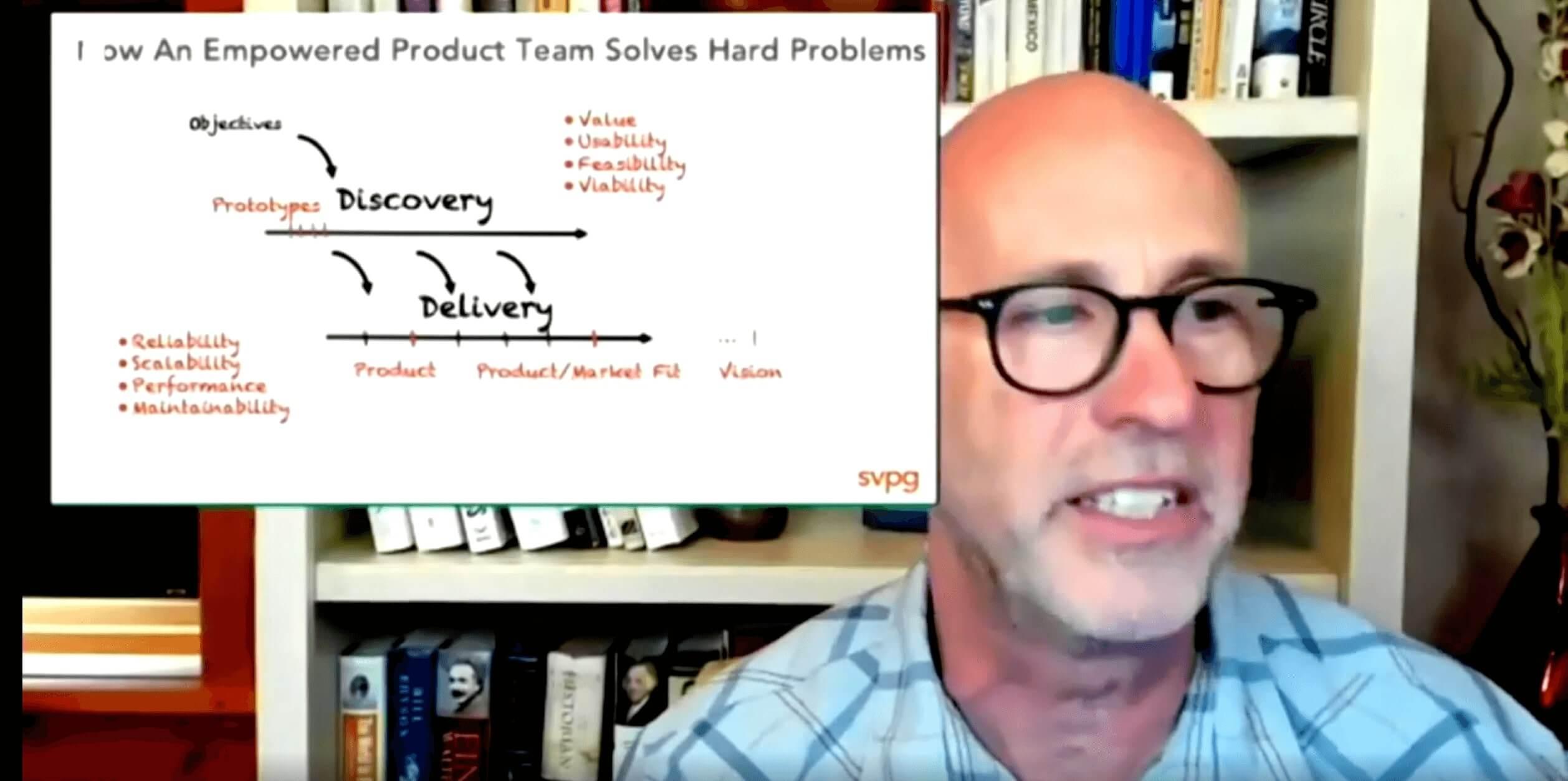 Imagem mostrando desenho sobre Dual Track de Delivery e Discovery de produto