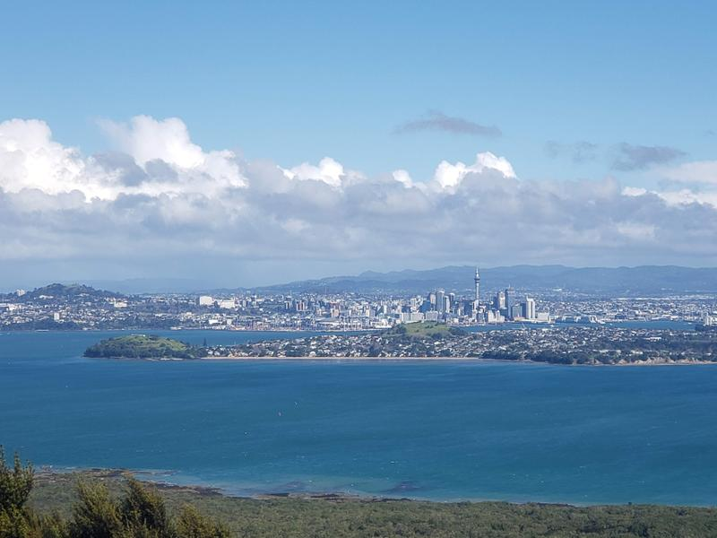 View of Auckland from Rangitoto Island