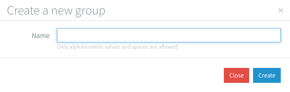 Create Group Modal