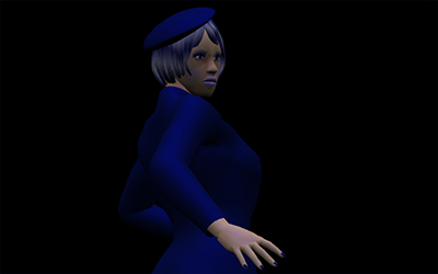 WebGL scene for BLUE LADY