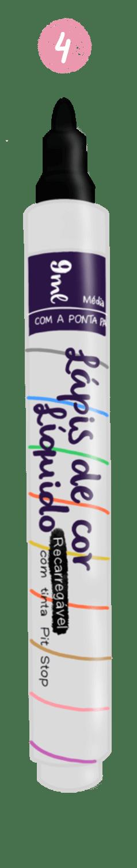 Caneta lápis de cor líquido da Brasinks