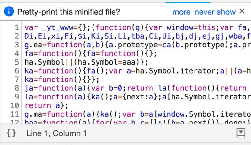This code looks pretty unreadable - but is it?