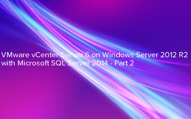 VMware vCenter Server 6 on Windows Server 2012 R2 with Microsoft SQL Server 2014 - logo