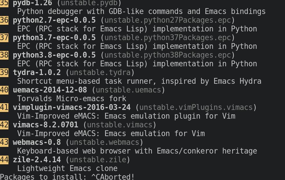 Figure 2: The nox emacs output