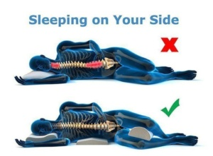 sleep on your side joints pain relief