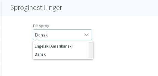 Sådan vælger du sprog
