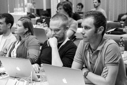 Lee and Ryan at Hackathon
