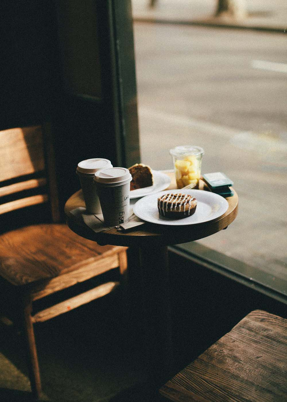 Stock photo of a coffee shop