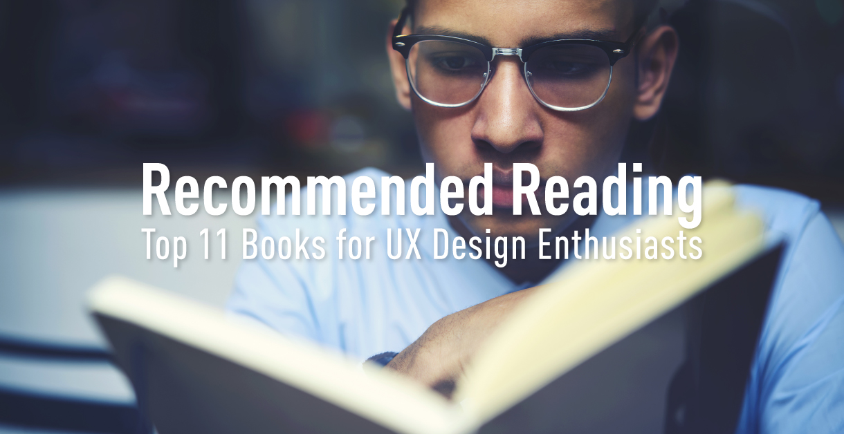 A man UX Designer pensively reading one of the top 11 books for UX Designers and UX Enthusiasts