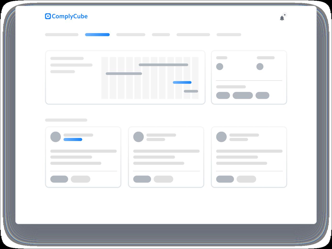 Web portal shown on iPad
